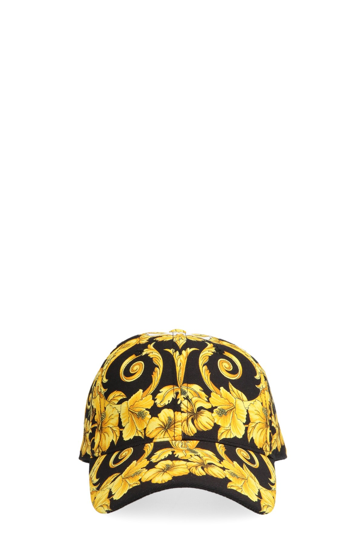 5740f155ccb1e versace  Barocco gold ibiscus  cap available on julian-fashion.com ...