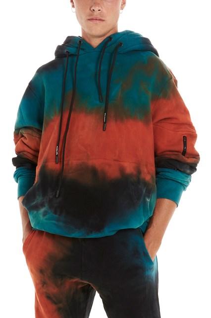 cea2663ae71af MAUNA KEA Tie-dye hoodie - COD. MKU668TLR6ORANGEPETROLBLACK